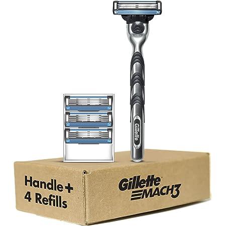 Gillette Mach3 Men's Razor Handle + 4 Blade Refills