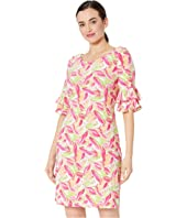 The Erika Dress - Pretty Petals Printed Ity