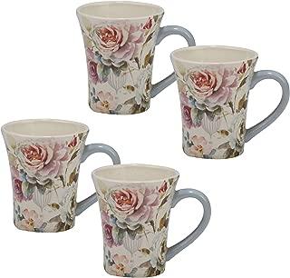 Certified International Beautiful Romance Set/4  Mug 14 oz. ,One Size, Multicolored