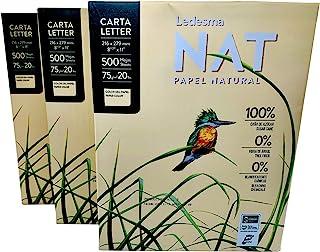 "$22 » NAT, Letter Size (8.5""x11"") Natural Sugarcane Pulp Printer Paper / 3 Reams (1500 sheets)"