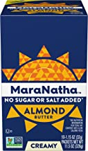 Maranatha No Stir No Sugar or Salt Added Almond Butter Packets, 1.15 Ounce (10 Count)