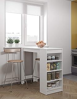 comprar comparacion Modern Loft Mesa Ramsay, 115 x 50 x 102,7 cm, Blanco