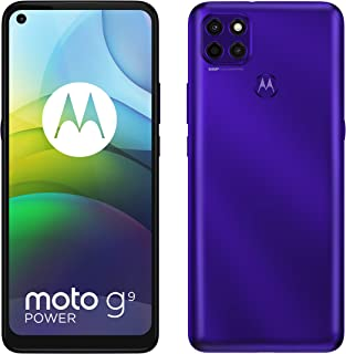 Moto G9 Power, 128GB ROM, 4GB RAM, Electric Violet - Amazon Exclusive