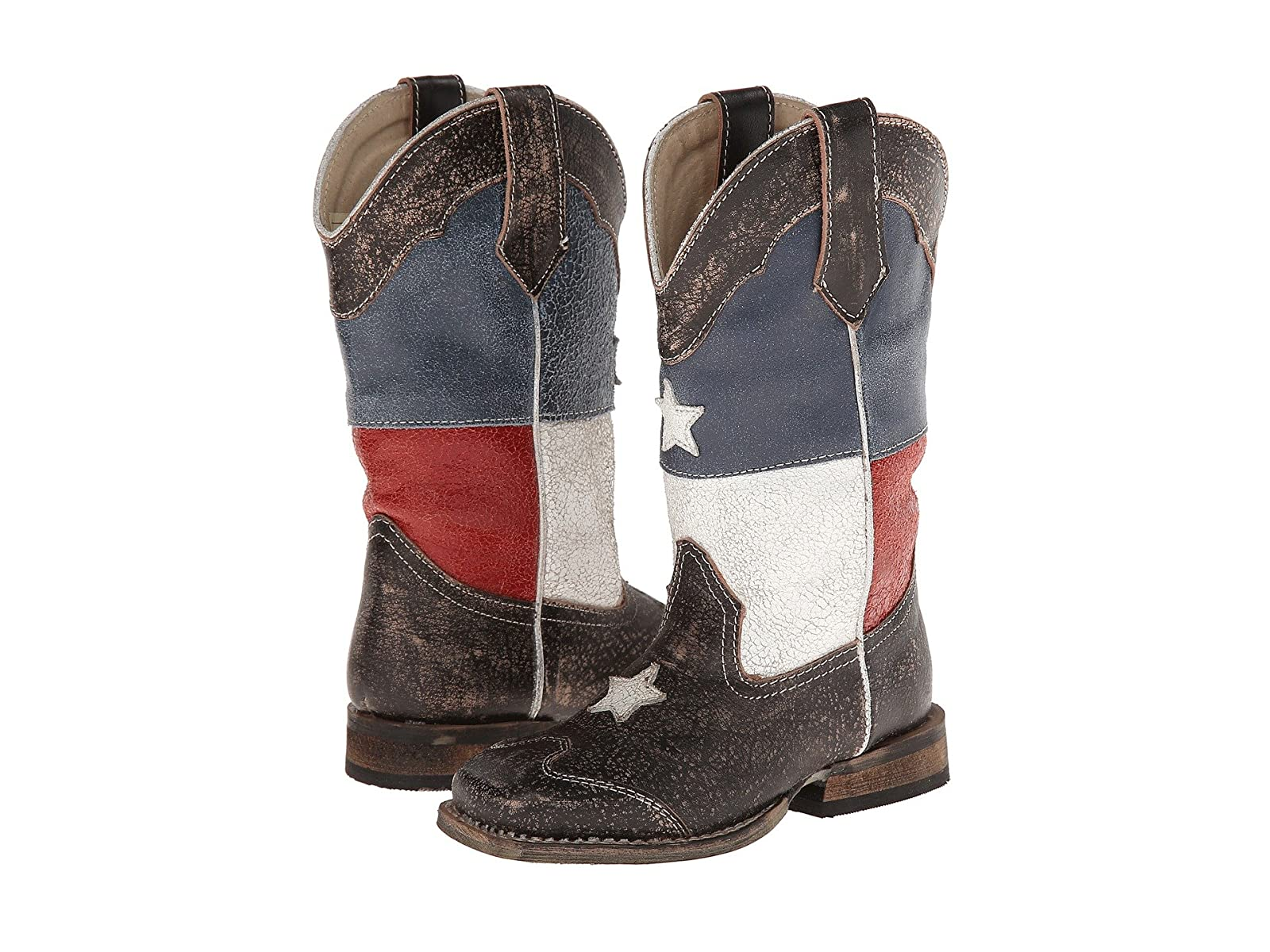 Roper Kids Texas Flag Square Toe Boot (Toddler/Little Kid)Economical and quality shoes
