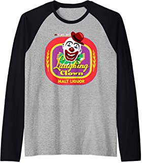 Talladega Nights Laughing CLown Malt Liquor Logo Raglan Baseball Tee
