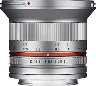 Samyang F1220506102 - Objetivo fotográfico CSC-Mirrorless para Sony E (Distancia Focal Fija 12mm Apertura f/2-22 NCS CS diámetro Filtro: 67mm) Plateado