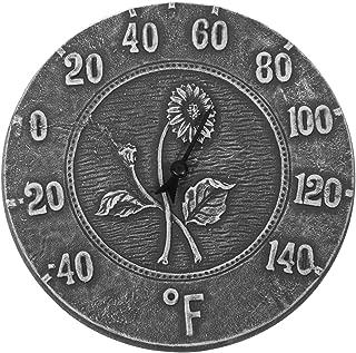 Poolmaster 52553 Indoor or Outdoor 12-Inch Antique Terra Cotta Thermometer, Black