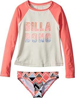 Billabong Kids Zigginz Long Sleeve Rashguard Set (Little Kids/Big Kids)