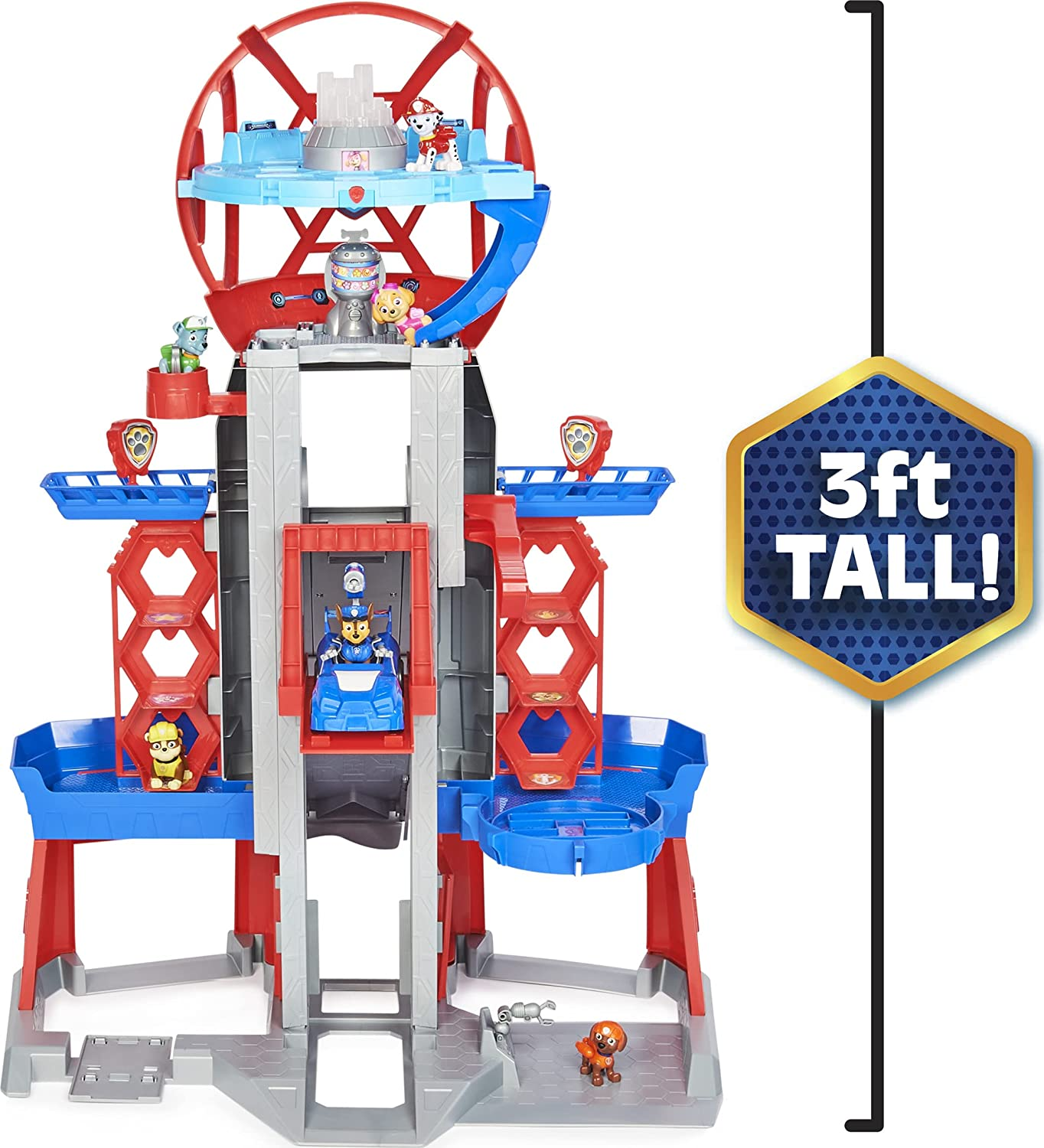 Paw Patrol Movie Ultimate City Tower - Full view of the tower, showing the height