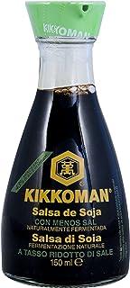 La sal salsa de soya Kikkoman Reducido, fermentada