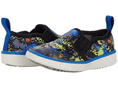 Bogs Kids Kicker Slip-On Micro Camo (Toddler/Little Kid) (Blue Multi) Kid