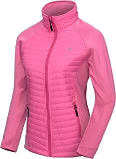 Women's Insulated Jacket, Thermal Hiking Hybrid Jacket, Lightweight, Warm and Breathable