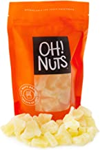 Oh! Nuts Dried Pineapple Chunks | 24oz Bulk Bag of Fresh Sweet Dehydrated Sliced Tropical Pineapple Bits for Snacking & Baking | Low in Sugar, Sodium & Cholesterol, Fat, Egg & Dairy Free High in Fiber