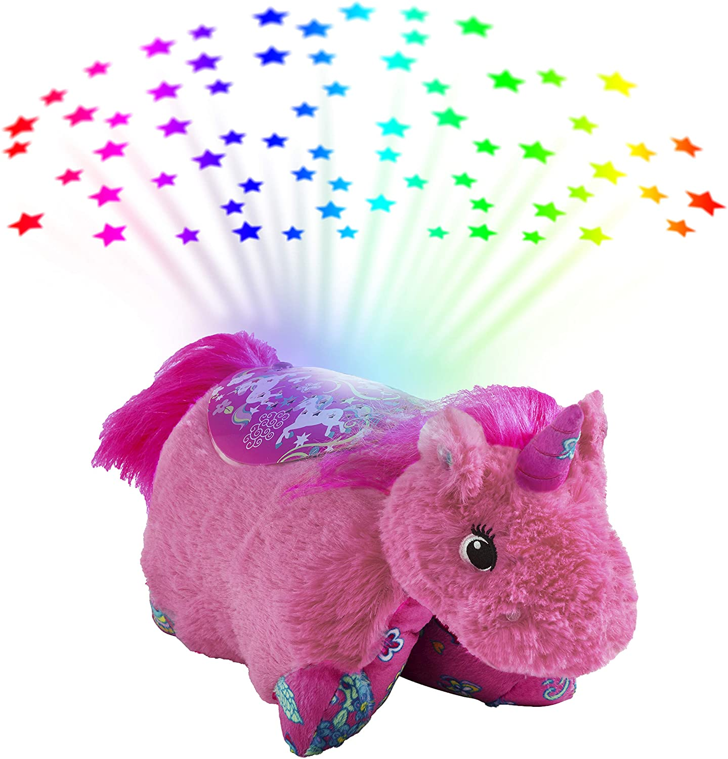 Pillow Pets Colorful Arlington Mall Pink Unicorn Plush Sleeptime Sales of SALE items from new works Lite