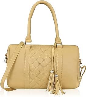 Quilted Women Top Handle Large Spacious Satchel Shoulder Handbag