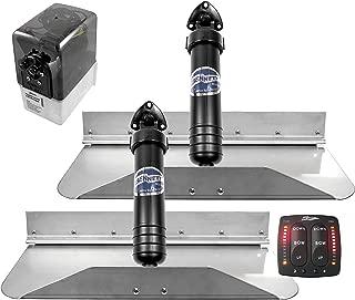 """Bennett Marine 18"""" x 9"""" Bennett 189EIC Hydraulic Trim Tab Set with Electronic Indication Control-18 x 9"""""""