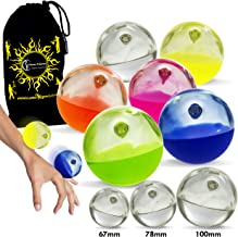 Play SIL-X Implosion Silicone Stage Balls - for Contact Juggling, Body Rolling Manipulation and Includes Flames N Games Bag! Available in 3 Sizes!Set is for 1 SIL-X Ball