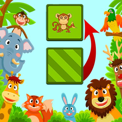 For Kids: Cardsmemo with Animal Pictures