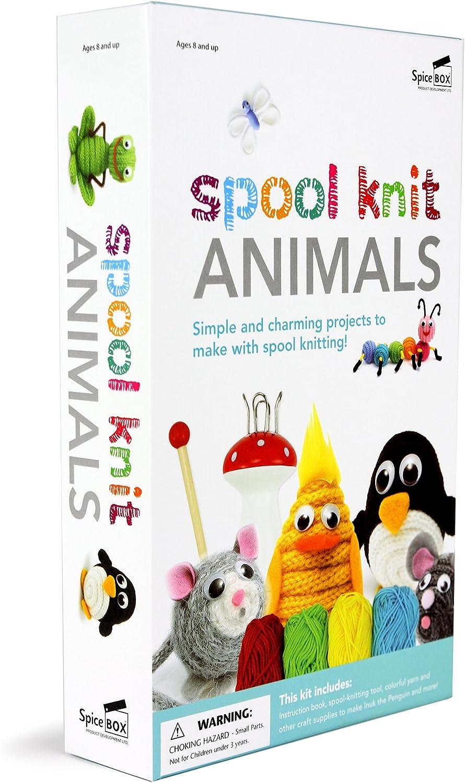 Spicebox Spool Knit Animals Toy
