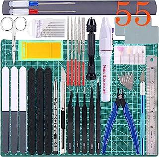 Qovydx 55Pcs Gundam Tools Kit Gunpla Tools Gundam Model Kit Tool Bandai Tool Kit Gundam Modeler Basic Tools Set for Gundam...
