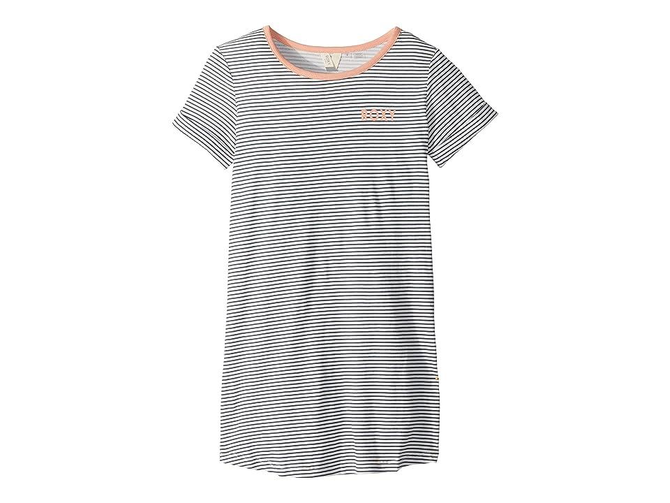 Roxy Kids Color Sky T-Shirt Dress (Big Kids) (Dress Blue Cosy Stripes) Girl