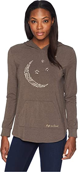 Moon Pattern Supreme Hooded Pullover