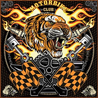 DIY 5D Diamond Painting by Number Kits for Adults Full Drill,Crystal Rhinestone Embroidery Paintings Art Craft Tiger Head Motorcycle Club 11.8 × 11.8in 1 Pack by AxiEr