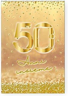 50esimo Anniversario Di Matrimonio.Amazon It 50 Anniversario Matrimonio Biglietti Di Auguri