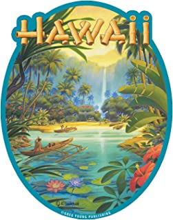 Hawaiian Art Decal - Car Window Bumper Sticker - Aloha from Hawaii by Kerne Erickson