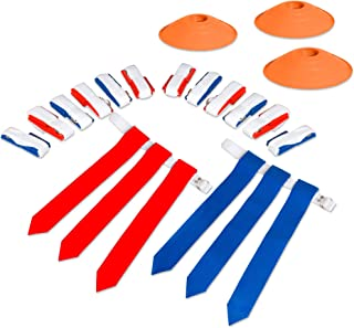 Play Platoon Flag Football Set for Kids - Flags, Belts & Cones - Set for Either 10 or 14 People!