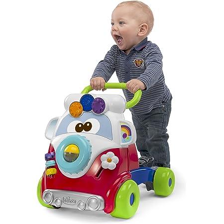 Chicco Gioco Primi Passi per Bambini Happy Hippy 2in1 con Centro Attività Manuali, Pulmino Primi Passi Colorato con 4 Grandi Ruote, Giocattolo Educativo Regalo Bimbo e Bimba, Giochi Bambini 9-24 Mesi