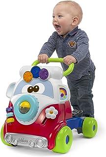 Chicco- Happy Big & Small Andador Primeros Pasos con Actividades manuales, Divertido diseño Hippy, Multicolor, 33 x 42.5 x 37 cm (00005905100000)