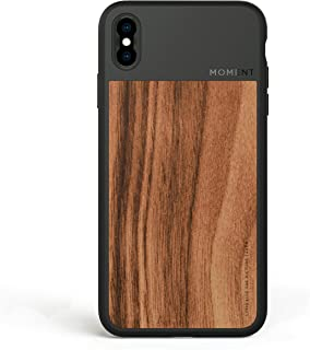 iPhone Xs Max Case || Moment Photo Case in Walnut Wood - Thin, Protective, Wrist Strap Friendly case for Camera Lovers.