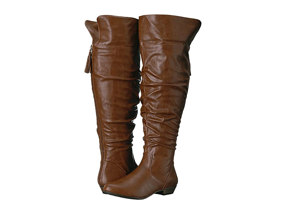 Fergalicious Rookie Wide Calf (Cognac) Women