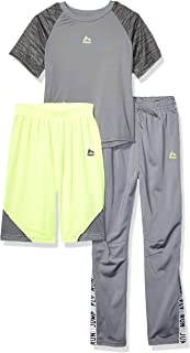 RBX Boys 3 Piece Performance Top, Short and Pant Set Pants Set