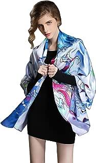 Spring Air Women's 100% Charmeuse Silk Fashion Scarf, Long Shawl Wrap£¦Headscarf