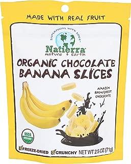 Natierra, Banana Chocolate Freeze Dried Slice Organic, 2.5 Ounce