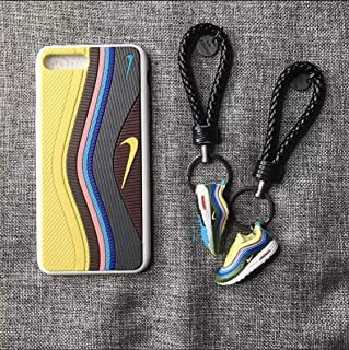 iPhone 3D Sean W/Undefeated Air Max 97 Shoe Case Official Print Textured Shock Absorbing Protective Sneaker Fashion Case (Yellow, iPhone 7+/8 Plus) (Renewed)