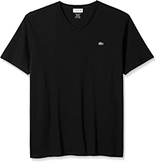 Lacoste Mens Short Sleeve V-Neck Pima Cotton Jersey T-Shirt