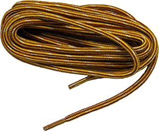 Yellow Gold Brown proTOUGH(tm) Reinforced Kevlar Heavy Duty Boot Laces Shoelaces (2 Pair Pack)
