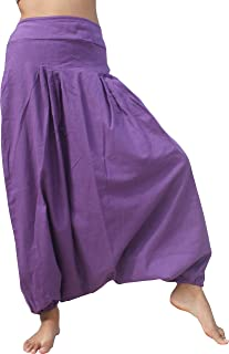 Full Funk 后背 棉 Mao Aladdin Wild 裤子 紫水晶 尺码 S 码