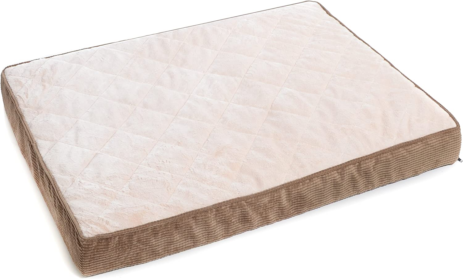 Milliard Quilted Padded Orthopedic Dog Bed, Egg Crate Foam with Plush Pillow Top Washable Cover   Fits Standard Crate