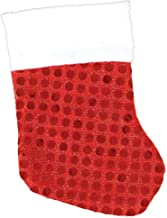 Amscan Mini Red Christmas Fabric Stockings with Sequins 6 Pieces