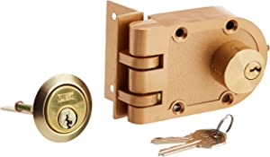 NU-SET 2125-3 Jimmy Proof Style Inter Locking Deadbolt Lock with Double Cylinder, Bronze