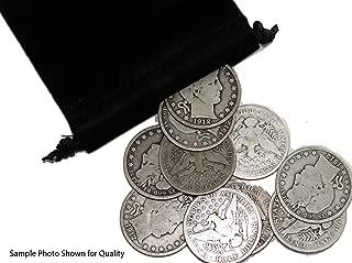 1900-1915 Barber Half Dollar - 10 Coin Set - Velvet Gift Pouch Included - Random Dates & Various Grades