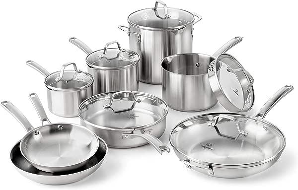 Calphalon Classic Stainless Steel Cookware Set 14 Piece