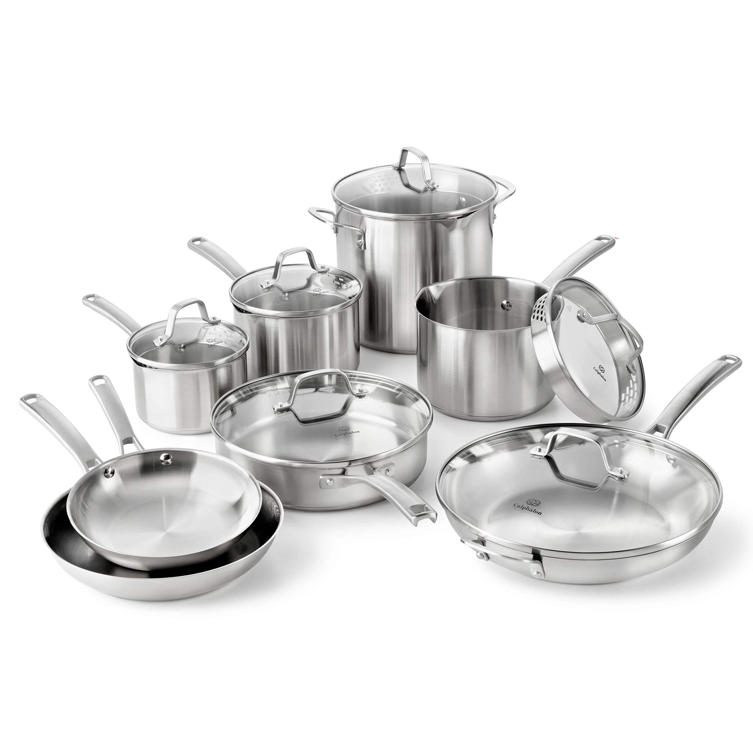 Calphalon Classic Stainless Cookware 14 Piece