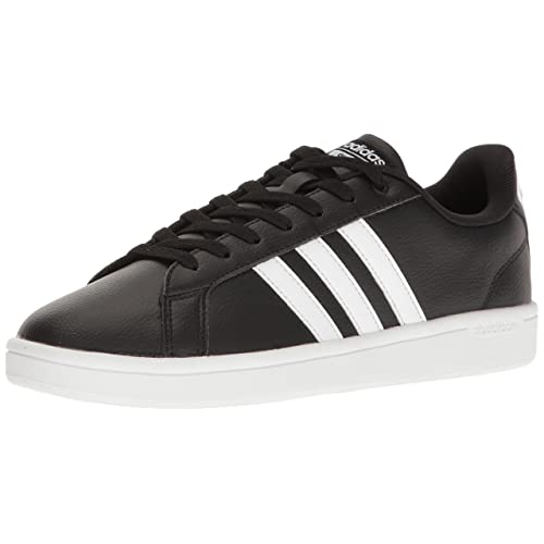 adidas Shoes Leather Black and White: