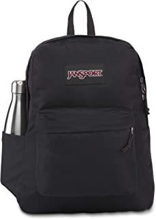 حقيبة ظهر سوبربريك من جانسبورت - حقيبة كتب للمدرسة أو السفر أو العمل مع جيب لزجاجات المياه