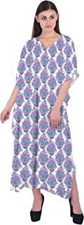RADANYA Floral Cotton Kaftan Swimwear Swimsuit Beachwear Bikini Coverup Caftan Dress